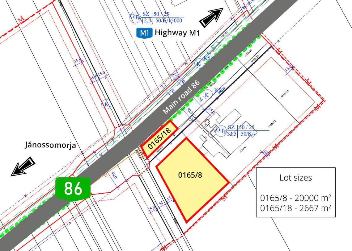 Janossomorja - excerpt of the zoning plan