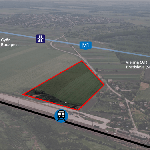 Mosonszentmiklos - aerial view of the location
